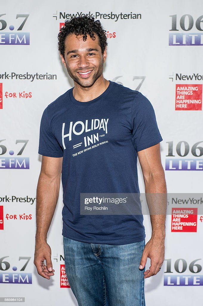 Actor Corbin Bleu from the cast of 'Holiday Inn' performs during 1067 LITE FM's Broadway In Bryant Park 2016 at Bryant Park on August 4 2016 in New...