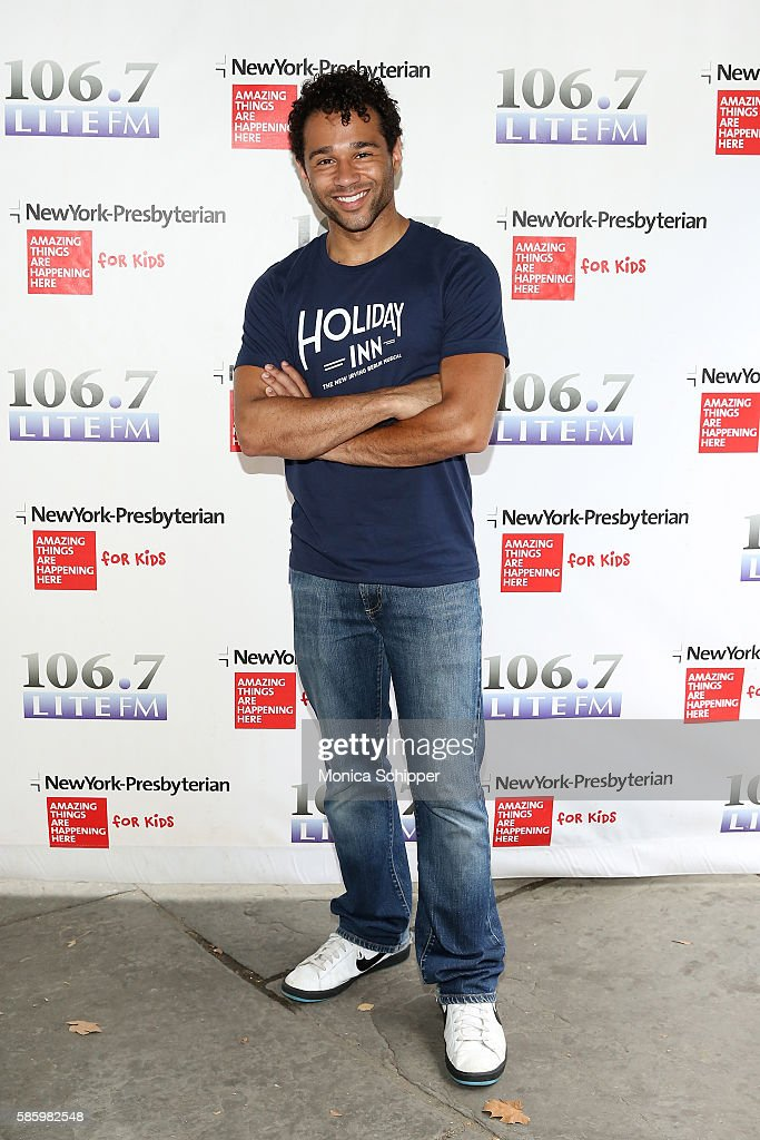 Actor Corbin Bleu of 'Holiday Inn' attends 1067 LITE FM's Broadway In Bryant Park 2016 at Bryant Park on August 4 2016 in New York City