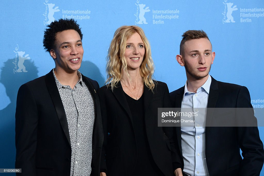 Actor Corentin Fila, Actress <a gi-track='captionPersonalityLinkClicked' href=/galleries/search?phrase=Sandrine+Kiberlain&family=editorial&specificpeople=832890 ng-click='$event.stopPropagation()'>Sandrine Kiberlain</a> and Actor Kacey Mottet Klein attend the 'Being 17' (Quand on a 17 ans) photo call during the 66th Berlinale International Film Festival Berlin at Grand Hyatt Hotel on February 14, 2016 in Berlin, Germany.