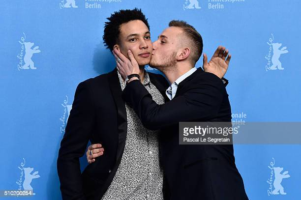 Actor Corentin Fila and Actor Kacey Mottet Klein attend the 'Being 17' photo call during the 66th Berlinale International Film Festival Berlin at...