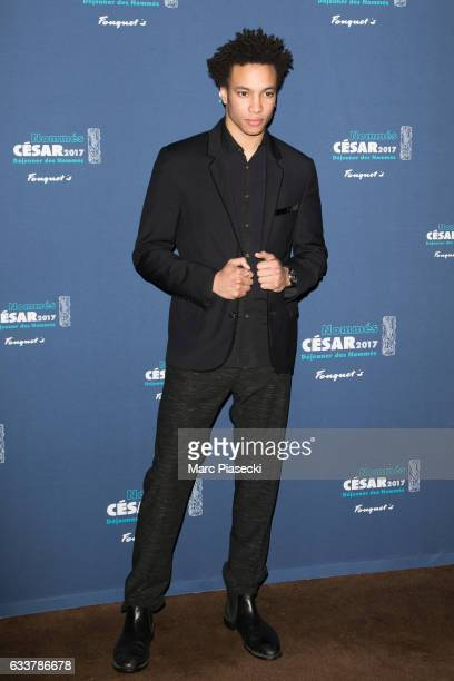 Actor Corentin Fila attends 'Cesars 2017 Nominee luncheon' at Le Fouquet's on February 4 2017 in Paris France