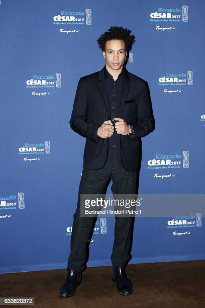 Actor Corentin Fila attends Nominee Luncheon Cesar 2017 at Le Fouquet's on February 4 2017 in Paris France