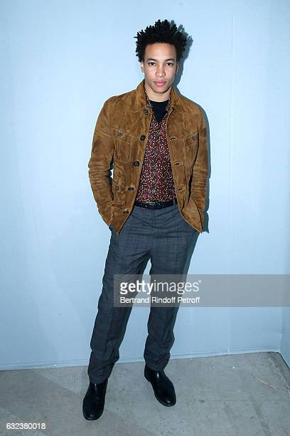 Actor Corentin Fila attends the Lanvin Menswear Fall/Winter 20172018 show as part of Paris Fashion Week on January 22 2017 in Paris France