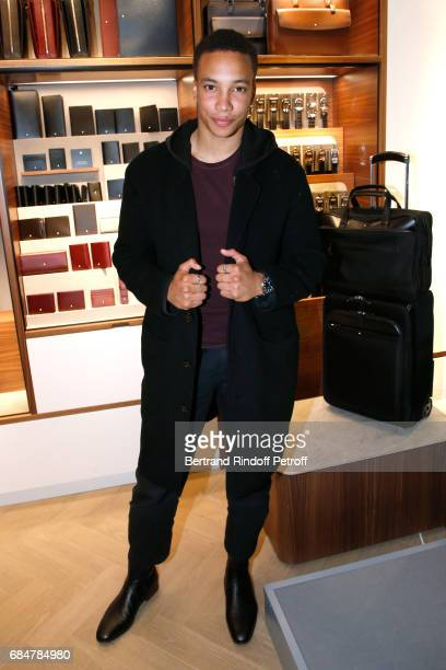 Actor Corentin Fila attends the Montblanc ChampsElysees Flagship Reopening on May 18 2017 in Paris France