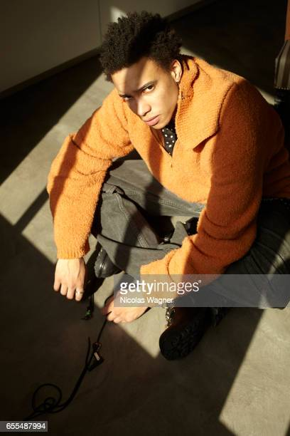 Actor Corentin Fila is photographed for Self Assignment on April 8 2016 in Paris France