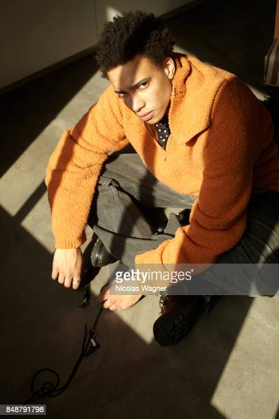 Actor Corentin Fila is photographed on April 8 2016 in Paris France
