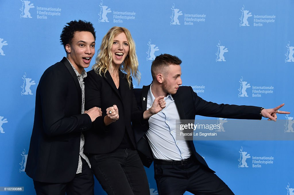 Actor Corentin Fila,Actress Sandrine Kiberlain and Actor Kacey Mottet Klein attend the 'Being 17' (Quand on a 17 ans) photo call during the 66th Berlinale International Film Festival Berlin at Grand Hyatt Hotel on February 14, 2016 in Berlin, Germany.