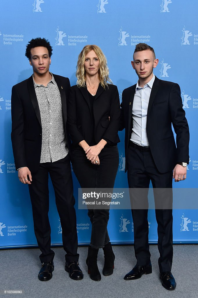 Actor Corentin Fila,Actress <a gi-track='captionPersonalityLinkClicked' href=/galleries/search?phrase=Sandrine+Kiberlain&family=editorial&specificpeople=832890 ng-click='$event.stopPropagation()'>Sandrine Kiberlain</a> and Actor Kacey Mottet Klein attend the 'Being 17' (Quand on a 17 ans) photo call during the 66th Berlinale International Film Festival Berlin at Grand Hyatt Hotel on February 14, 2016 in Berlin, Germany.