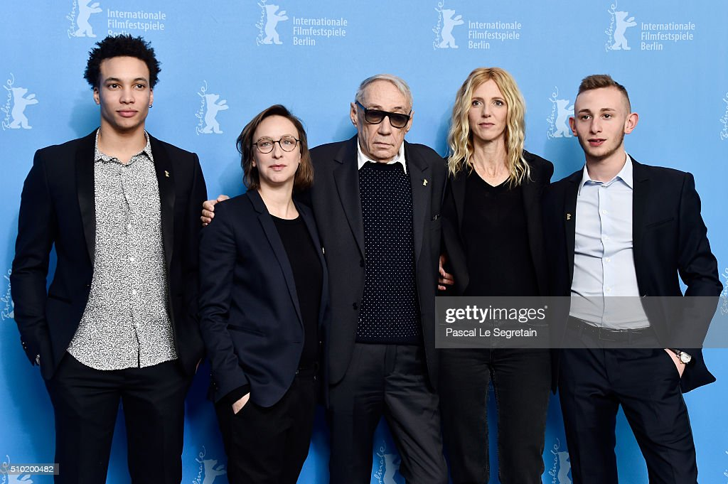 Actor Corentin Fila,Writer Celine Sciamma,Director Andre Techine,Actress Sandrine Kiberlain and Actor Kacey Mottet Klein attend the 'Being 17' (Quand on a 17 ans) photo call during the 66th Berlinale International Film Festival Berlin at Grand Hyatt Hotel on February 14, 2016 in Berlin, Germany.