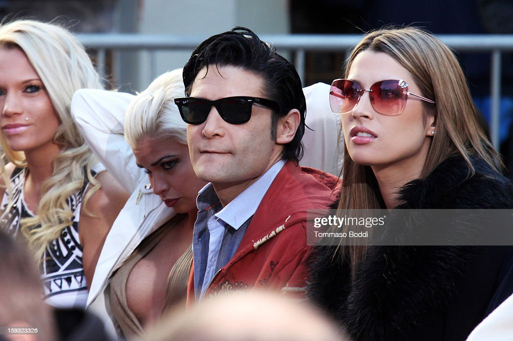 Actor <a gi-track='captionPersonalityLinkClicked' href=/galleries/search?phrase=Corey+Feldman&family=editorial&specificpeople=175941 ng-click='$event.stopPropagation()'>Corey Feldman</a> attends a press conference announcing the renaming of Grauman's Chinese Theatre to the TCL Chinese Theatre held at the Chinese Theatre on January 11, 2013 in Hollywood, California.