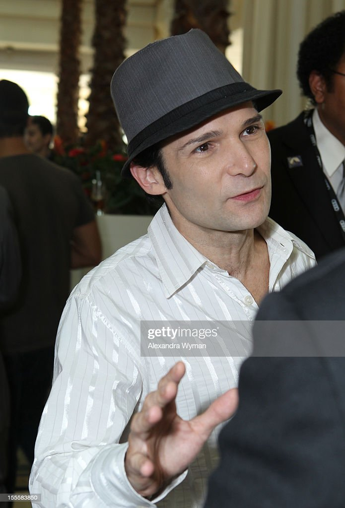 Actor <a gi-track='captionPersonalityLinkClicked' href=/galleries/search?phrase=Corey+Feldman&family=editorial&specificpeople=175941 ng-click='$event.stopPropagation()'>Corey Feldman</a> attends American Film Market - Day 6 at the Loews Santa Monica Beach Hotel on November 5, 2012 in Santa Monica, California.