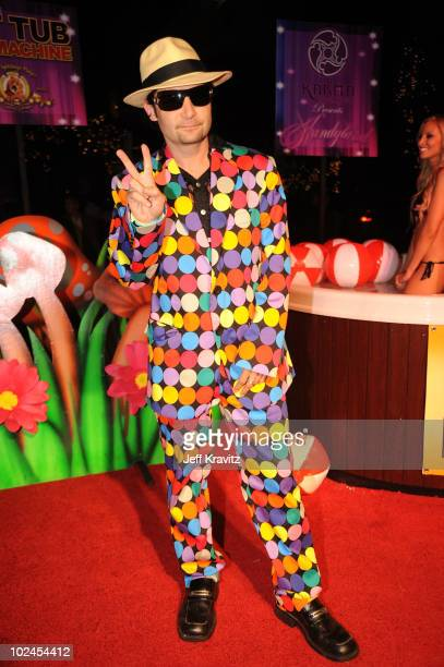 Actor Corey Feldman attends the 'Hot Tub Time Machine' bluray DVD launch party with Kandyland V at the Playboy Mansion on June 26 2010 in Los Angeles...