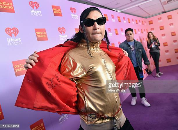 Actor Corey Feldman poses backstage during the first ever iHeart80s Party at The Forum on February 20 2016 in Inglewood California