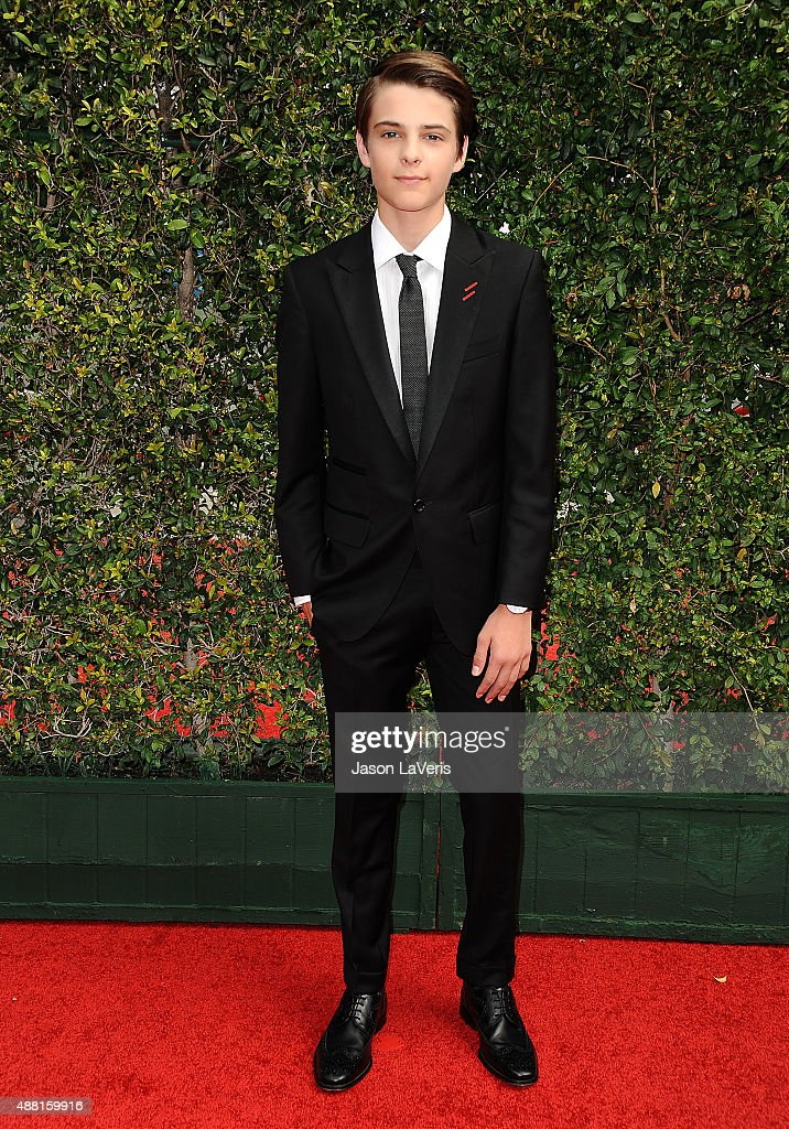 Actor Corey Fogelmanis attends the 2015 Creative Arts Emmy Awards at Microsoft Theater on September 12, 2015 in Los Angeles, California.