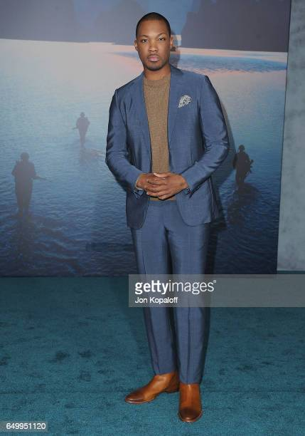 Actor Corey Hawkins arrives at the Los Angeles Premiere 'Kong Skull Island' at Dolby Theatre on March 8 2017 in Hollywood California
