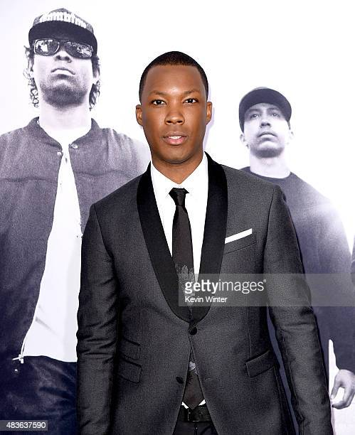 Actor Corey Hawkins arrives at the premiere of Universal Pictures and Legendary Pictures' 'Straight Outta Compton' at the Microsoft Theatre on August...