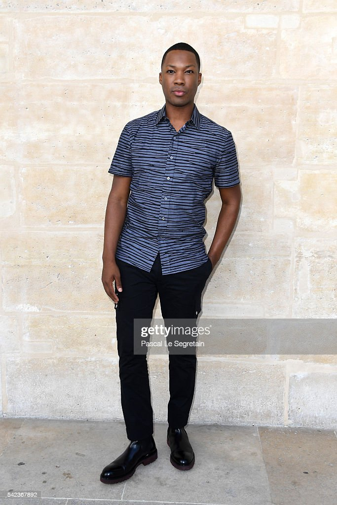 Actor Corey Hawkins attends the Louis Vuitton Menswear Spring/Summer 2017 show as part of Paris Fashion Week on June 23, 2016 in Paris, France.