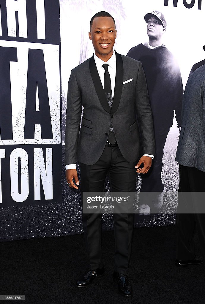 Actor Corey Hawkins attends the premiere of 'Straight Outta Compton' at Microsoft Theater on August 10, 2015 in Los Angeles, California.