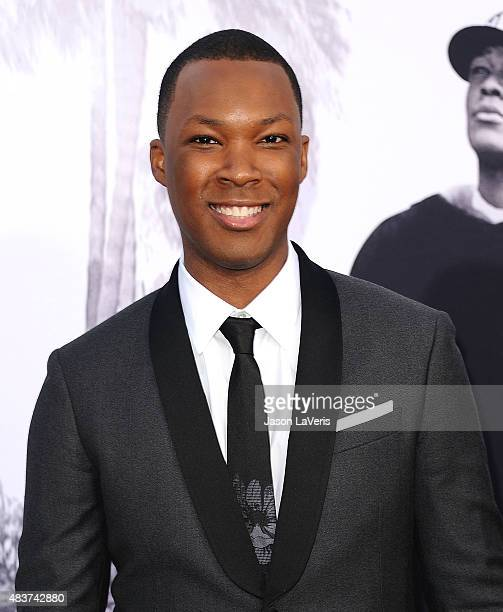 Actor Corey Hawkins attends the premiere of 'Straight Outta Compton' at Microsoft Theater on August 10 2015 in Los Angeles California