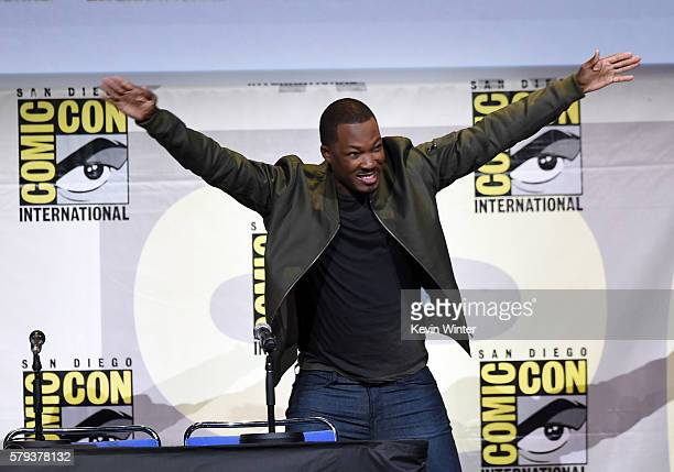 Actor Corey Hawkins attends the Warner Bros Presentation during ComicCon International 2016 at San Diego Convention Center on July 23 2016 in San...