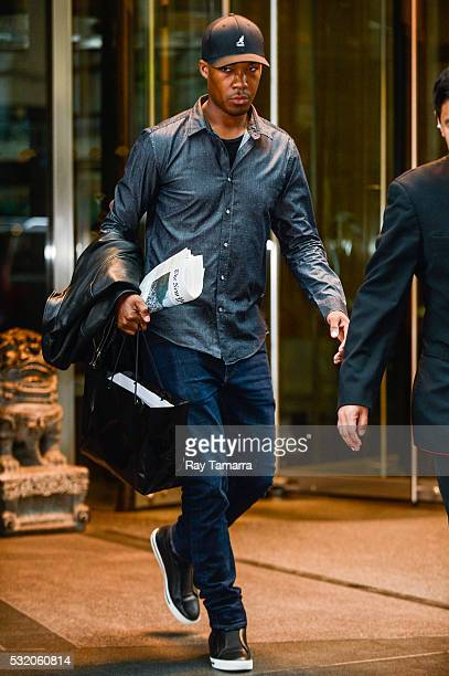 Actor Corey Hawkins leaves a Midtown Manhattan hotel on May 17 2017 in New York City