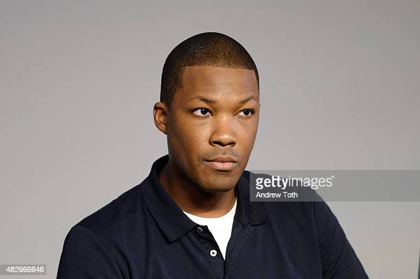 Actor Corey Hawkins speaks on stage during Apple Store Soho presents Meet The Filmmaker 'Straight Outta Compton' at Apple Store Soho on August 4 2015...