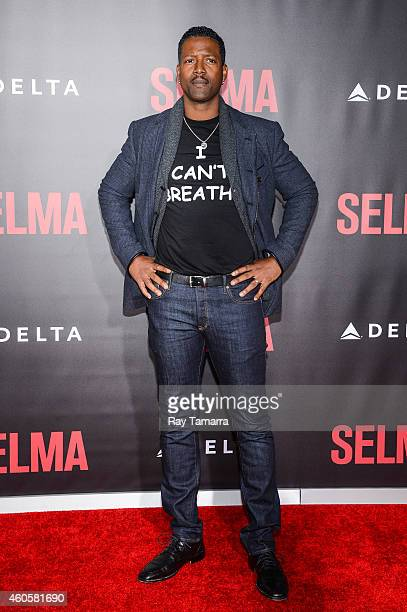 Actor Corey Reynolds enters the 'Selma' New York Premiere at the Ziegfeld Theater on December 14 2014 in New York City