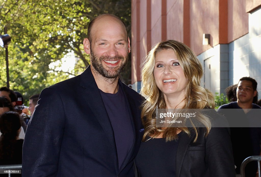 Actor Corey Stoll and wife Nadia Bowers attend a Marvel's screening of 'Ant-Man' hosted by The Cinema Society and Audi on July 13, 2015 in New York City.