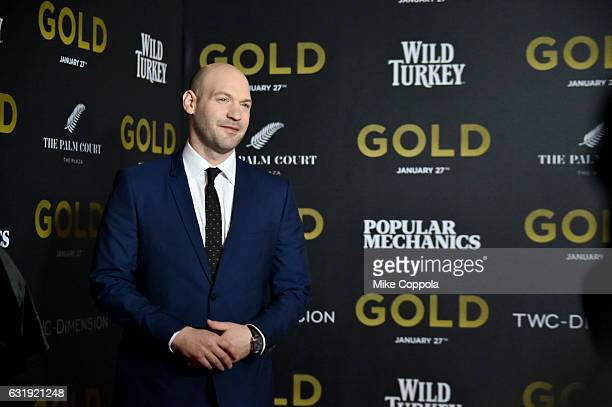 Actor Corey Stoll attends The World Premiere of 'Gold' hosted by TWC Dimension with Popular Mechanics The Palm Court Wild Turkey Bourbon at AMC Loews...