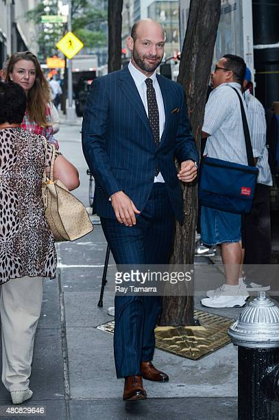 Actor Corey Stoll leaves the 'Today Show' taping at the NBC Rockefeller Center Studios on July 15 2015 in New York City