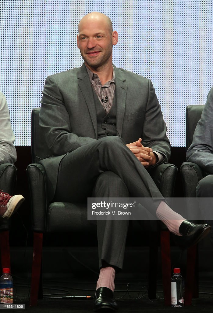Actor Corey Stoll speaks onstage during 'The Strain' panel discussion at the FX portion of the 2015 Summer TCA Tour at The Beverly Hilton Hotel on August 7, 2015 in Beverly Hills, California.