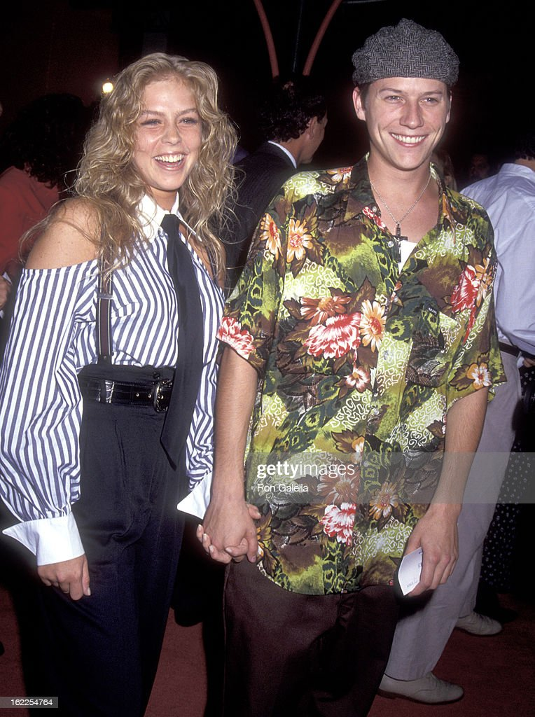 Actor Corin Nemec and date Jami attend the 'Mr. Saturday Night' Hollywood Premiere on September 22, 1992 at Mann's Chinese Theatre in Hollywood, California.