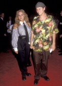 Actor Corin Nemec and date Jami attend the 'Mr Saturday Night' Hollywood Premiere on September 22 1992 at Mann's Chinese Theatre in Hollywood...