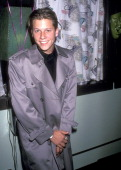Actor Corin Nemec attends the 'Paint the Town Pink' Party Celebrating the 25th Anniversary of Pink Panther on November 9 1989 at Ed Debevic's...