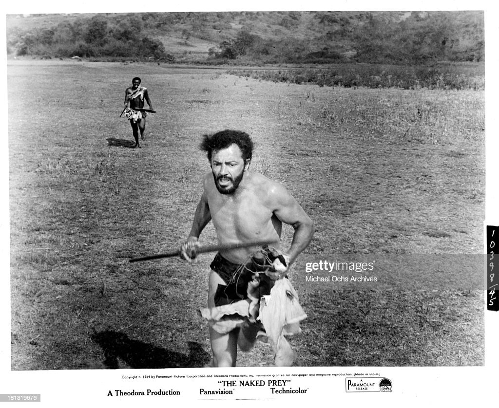 Actor <a gi-track='captionPersonalityLinkClicked' href=/galleries/search?phrase=Cornel+Wilde&family=editorial&specificpeople=227460 ng-click='$event.stopPropagation()'>Cornel Wilde</a> on the set of the Paramount Release movie 'The Naked Prey' in 1966.