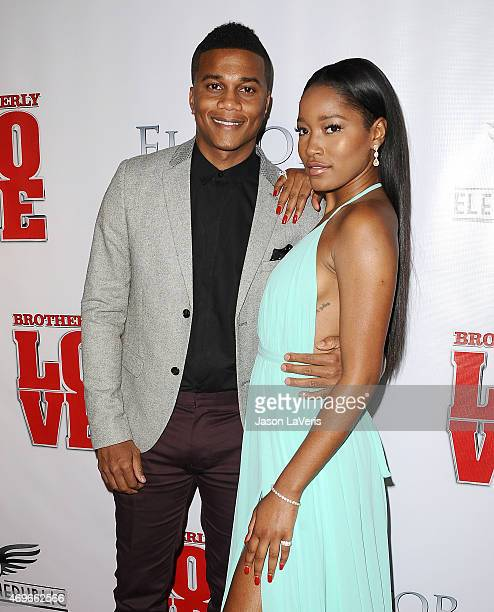 Actor Cory Hardrict and actress Keke Palmer attend the premiere of 'Brotherly Love' at SilverScreen Theater at the Pacific Design Center on April 13...