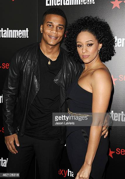 Actor Cory Hardrict and actress Tia Mowry attend the Entertainment Weekly celebration honoring nominees for the Screen Actors Guild Awards at Chateau...