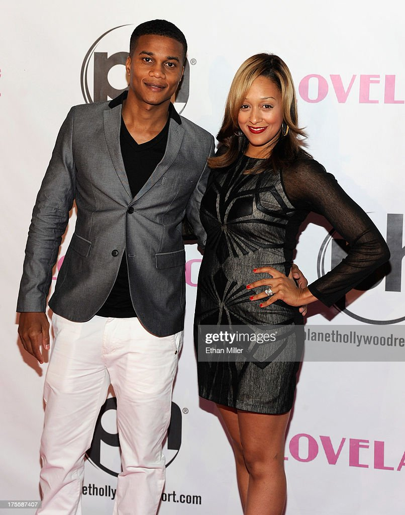 Actor <a gi-track='captionPersonalityLinkClicked' href=/galleries/search?phrase=Cory+Hardrict&family=editorial&specificpeople=962160 ng-click='$event.stopPropagation()'>Cory Hardrict</a> (L) and his wife, actress <a gi-track='captionPersonalityLinkClicked' href=/galleries/search?phrase=Tia+Mowry&family=editorial&specificpeople=631098 ng-click='$event.stopPropagation()'>Tia Mowry</a>-Hardrict, arrive at the Las Vegas premiere of the movie 'Lovelace' at Planet Hollywood Resort & Casino on August 4, 2013 in Las Vegas, Nevada.