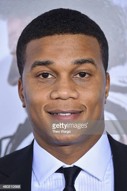 Actor Cory Hardrict arrives at the 'American Sniper' New York Premiere at Frederick P Rose Hall Jazz at Lincoln Center on December 15 2014 in New...