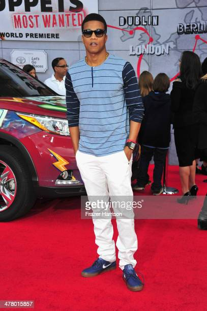 Actor Cory Hardrict arrives at the premiere Of Disney's 'Muppets Most Wanted' at the El Capitan Theatre on March 11 2014 in Hollywood California