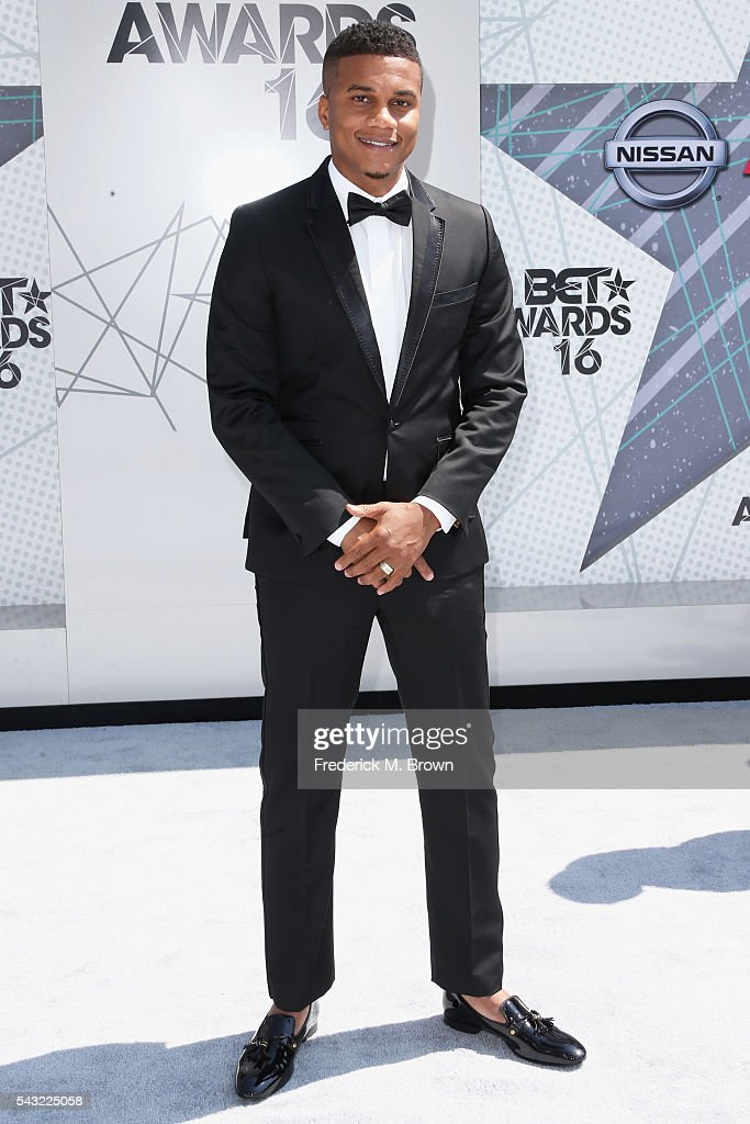 Actor <a gi-track='captionPersonalityLinkClicked' href=/galleries/search?phrase=Cory+Hardrict&family=editorial&specificpeople=962160 ng-click='$event.stopPropagation()'>Cory Hardrict</a> attends the 2016 BET Awards at the Microsoft Theater on June 26, 2016 in Los Angeles, California.