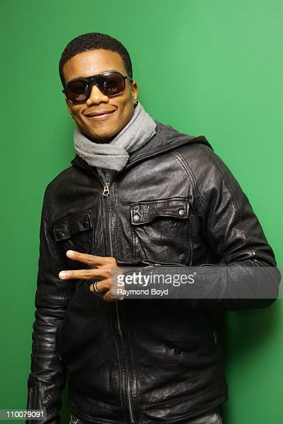 Actor Cory Hardrict poses for photos in the WGCIFM 'CocaCola Lounge' in Chicago Illinois on MAR 11 2011