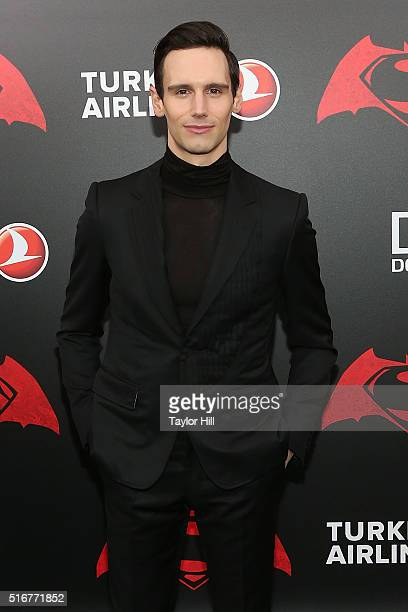 Actor Cory Michael Smith attends the 'Batman v Superman Dawn of Justice' premiere at Radio City Music Hall on March 20 2016 in New York City