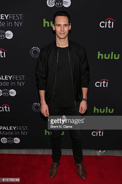 Actor Cory Michael Smith attends the 'Gotham' panel discussion and screening during PaleyFest New York 2016 held at The Paley Center for Media on...