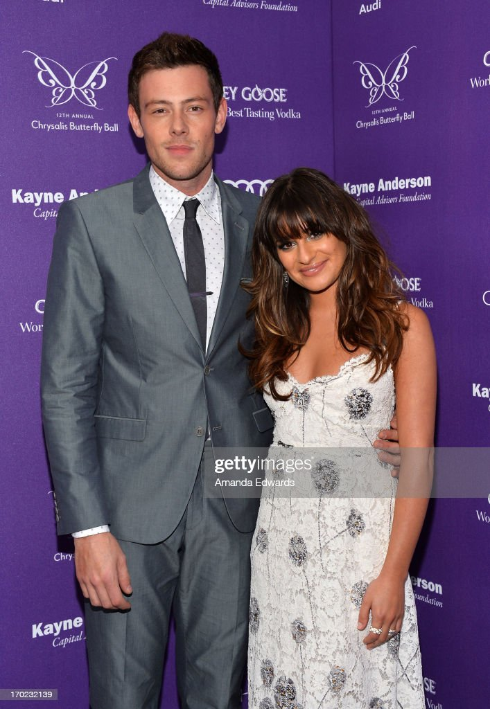 Actor <a gi-track='captionPersonalityLinkClicked' href=/galleries/search?phrase=Cory+Monteith&family=editorial&specificpeople=4491048 ng-click='$event.stopPropagation()'>Cory Monteith</a> (L) and actress <a gi-track='captionPersonalityLinkClicked' href=/galleries/search?phrase=Lea+Michele&family=editorial&specificpeople=566514 ng-click='$event.stopPropagation()'>Lea Michele</a> arrive at the 12th Annual Chrysalis Butterfly Ball on June 8, 2013 in Los Angeles, California.
