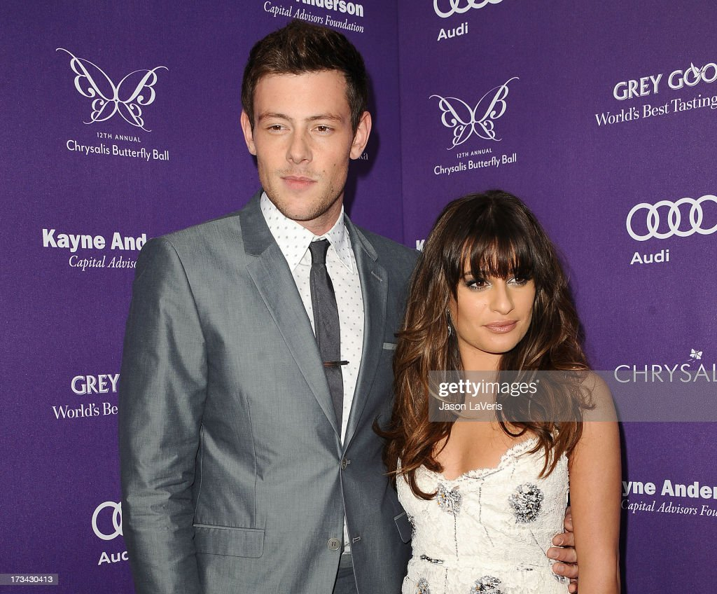 Actor Cory Monteith and actress Lea Michele attend the 12th annual Chrysalis Butterfly Ball on June 8 2013 in Los Angeles California