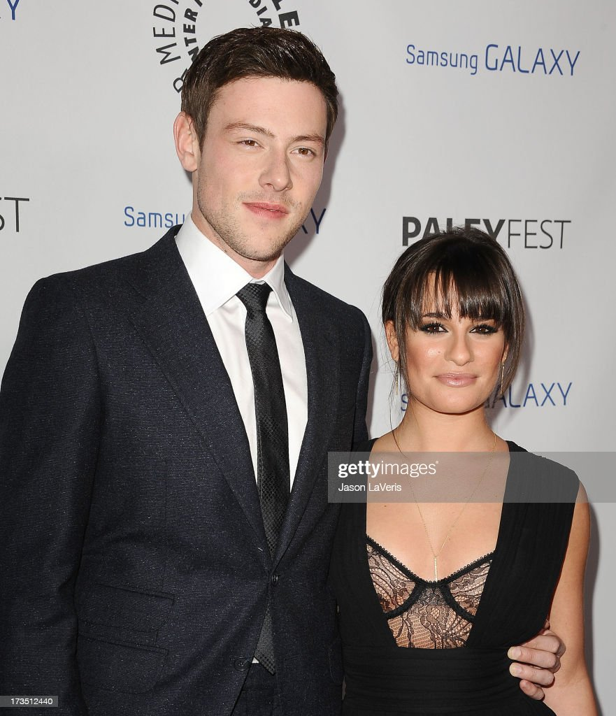 Actor <a gi-track='captionPersonalityLinkClicked' href=/galleries/search?phrase=Cory+Monteith&family=editorial&specificpeople=4491048 ng-click='$event.stopPropagation()'>Cory Monteith</a> and actress <a gi-track='captionPersonalityLinkClicked' href=/galleries/search?phrase=Lea+Michele&family=editorial&specificpeople=566514 ng-click='$event.stopPropagation()'>Lea Michele</a> attend the PaleyFest Icon Award presentation at The Paley Center for Media on February 27, 2013 in Beverly Hills, California.