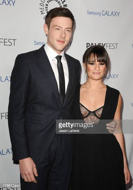 Actor Cory Monteith and actress Lea Michele attend the PaleyFest Icon Award presentation at The Paley Center for Media on February 27 2013 in Beverly...