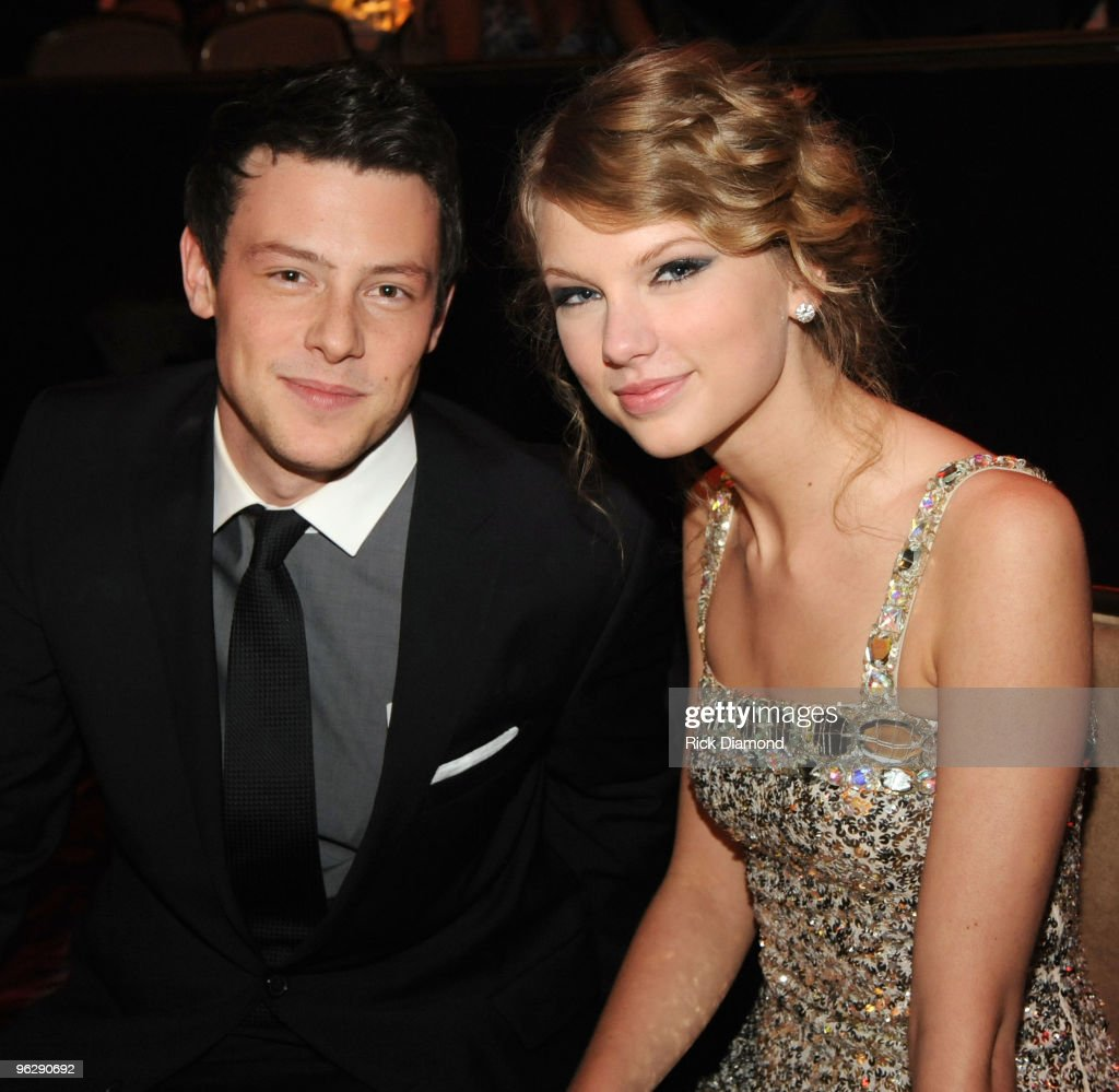 Actor <a gi-track='captionPersonalityLinkClicked' href=/galleries/search?phrase=Cory+Monteith&family=editorial&specificpeople=4491048 ng-click='$event.stopPropagation()'>Cory Monteith</a> and singer <a gi-track='captionPersonalityLinkClicked' href=/galleries/search?phrase=Taylor+Swift&family=editorial&specificpeople=619504 ng-click='$event.stopPropagation()'>Taylor Swift</a> attend the 52nd Annual GRAMMY Awards - Salute To Icons Honoring Doug Morris held at The Beverly Hilton Hotel on January 30, 2010 in Beverly Hills, California.