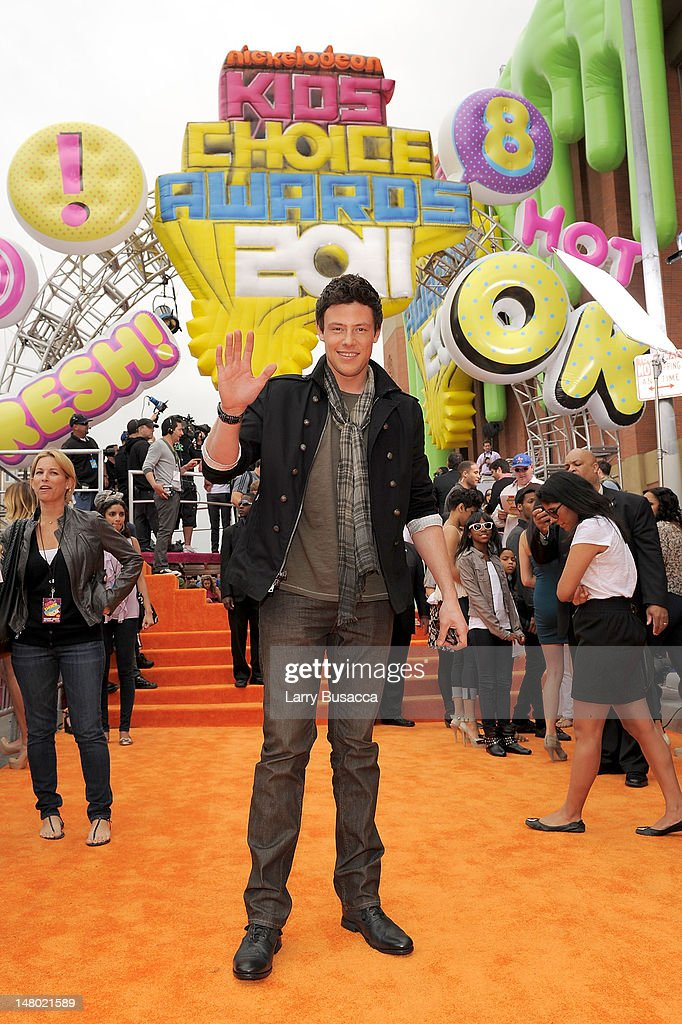 Actor <a gi-track='captionPersonalityLinkClicked' href=/galleries/search?phrase=Cory+Monteith&family=editorial&specificpeople=4491048 ng-click='$event.stopPropagation()'>Cory Monteith</a> arrives at Nickelodeon's 24th Annual Kids' Choice Awards at Galen Center on April 2, 2011 in Los Angeles, California.